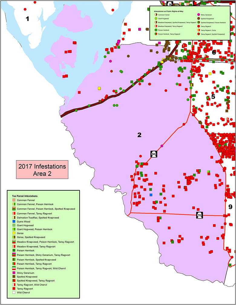 Area 2 Pierce County Weed Map